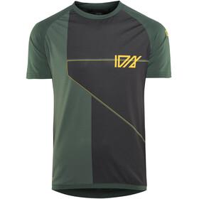ION Traze AMP Cblock Fietsshirt korte mouwen Heren groen/zwart